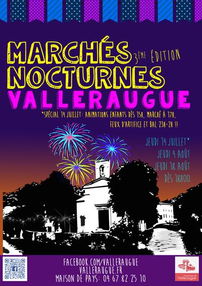 Marchés nocturnes 2016 à Valleraugue